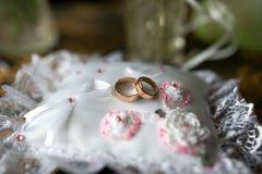 Two wedding rings Stock Photo