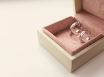 Two wedding rings in box Royalty Free Stock Photography