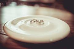 Two wedding rings Stock Image