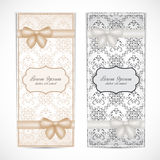 Two weddings invitation card in the vintage style Royalty Free Stock Images
