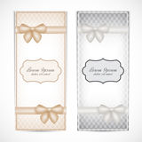 Two weddings invitation card in the vintage style Royalty Free Stock Photography