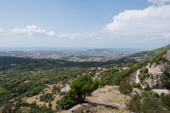 Two Weeks in Croatia - Klis Fortress. Two Weeks in Croatia - at the  Klis Fortress stock photos