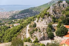Two Weeks in Croatia - Klis Fortress. Two Weeks in Croatia - at the Klis medieval Fortress near Split stock images