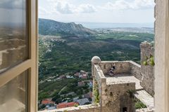 Two Weeks in Croatia - Klis Fortress. Two Weeks in Croatia - at the Klis medieval Fortress near Split royalty free stock photos