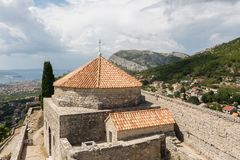 Two Weeks in Croatia - Klis Fortress. Two Weeks in Croatia - at the Klis medieval Fortress near Split royalty free stock images