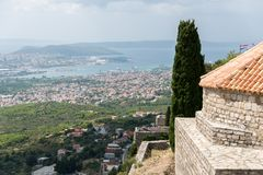 Two Weeks in Croatia - Klis Fortress. Two Weeks in Croatia - at the Klis medieval Fortress near Split royalty free stock photography