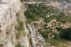 Two Weeks in Croatia - Klis Fortress. Two Weeks in Croatia - at the Klis medieval Fortress near Split royalty free stock image