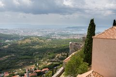 Two Weeks in Croatia - Klis Fortress. Two Weeks in Croatia - at the Klis medieval Fortress near Split stock photography
