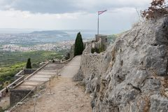 Two Weeks in Croatia - Klis Fortress. Two Weeks in Croatia - at the Klis medieval Fortress near Split stock photos