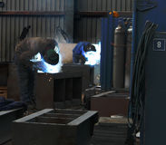Two welders working Stock Photo