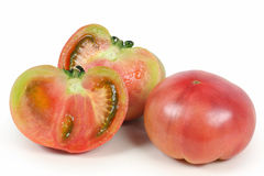Two were cut tomatoes Royalty Free Stock Image