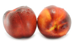 Two wet nectarines Royalty Free Stock Photography