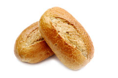 Two wheat buns Stock Image