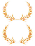 Two Wheat ears Wreath. EPS 10. Two Wheat ears Wreath with space for text. EPS 10 vector file included Stock Photography