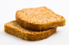 Two wheat toast. On white background Royalty Free Stock Photos