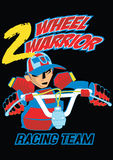 Two wheel warrior. Vector illustration of a bicycle and rider Royalty Free Stock Images