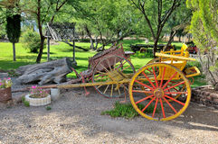 Two-wheeled horse drawn carts Royalty Free Stock Photography