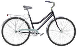 Two-wheeled single-speed bicycle Stock Photo