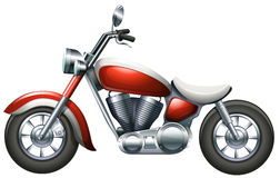 A two-wheeled transportation. Illustration of a two-wheeled transportation on a white background Royalty Free Stock Photography