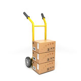 Two-wheeled trolley with drawers Royalty Free Stock Photos
