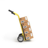 Two-wheeled trolley with drawers Stock Image