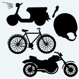 Two-wheeled vehicles Royalty Free Stock Images