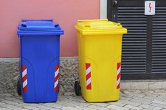 Two Wheelie Bins Stock Photo