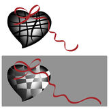Two whimsical hearts Stock Photography