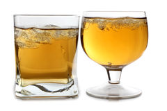 Two whiskey cup with ice Royalty Free Stock Photo