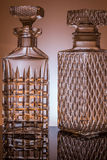 Two Whiskey decanter. Whiskey decanter in the studio Stock Photography