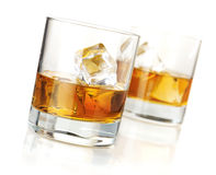 Two whiskey glasses Stock Image