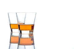Two whiskey glasses Royalty Free Stock Photos