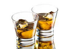 Two whiskeys Royalty Free Stock Photos