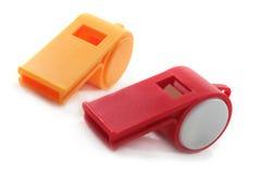 Two whistles Stock Photos