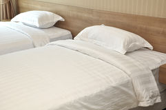 Two White Bed Cover Royalty Free Stock Photo