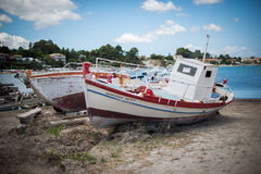 Two white boats Stock Photography