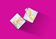 Two white boxes Royalty Free Stock Images