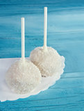 Two white cake pops Royalty Free Stock Images