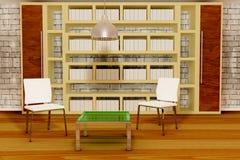 Two white chairs Stock Photos