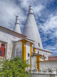 Two White Chimneys In Sintra Royalty Free Stock Photos