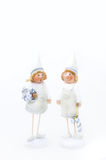 Two white Christmas Elfs Stock Image
