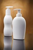 Two white cosmetical sprays Stock Photography