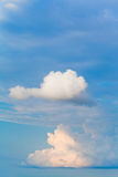 Two white cumulus clouds Royalty Free Stock Images