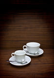 Two white cup Royalty Free Stock Image