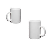 Two white cup Royalty Free Stock Photo