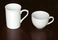 Two White Cups Stock Images