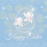 Two white Easter Bunny climber Stock Images