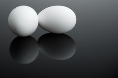 Two white eggs Stock Photography
