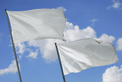 Two white flags Royalty Free Stock Photography