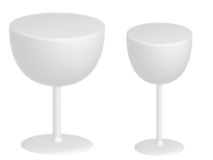 Two white glasses Royalty Free Stock Image
